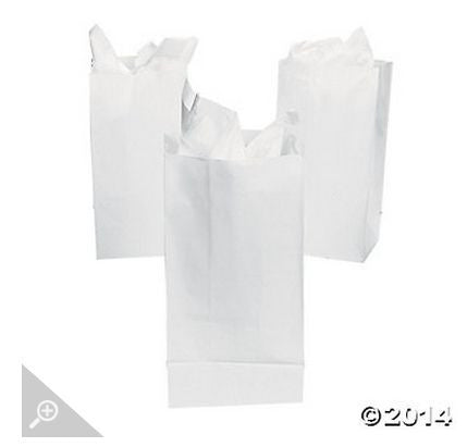 White Paper Bags AS LOW AS 26¢ ea - Winter Park Products