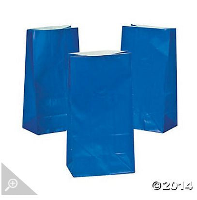 Royal Blue Paper Bags AS LOW AS 26¢ ea - Winter Park Products