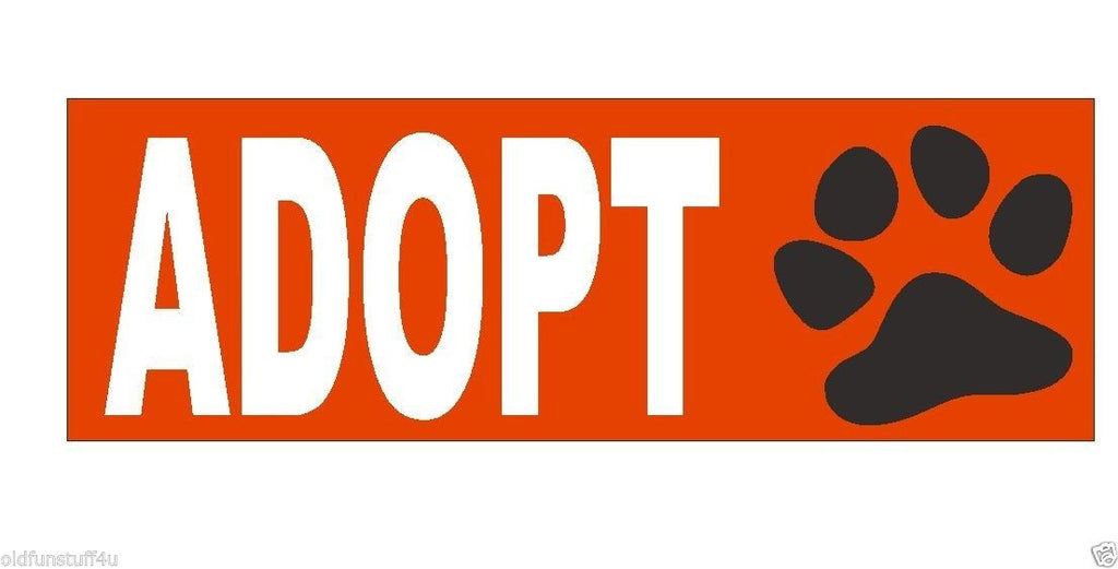 Animal Rights Adopt Bumper Sticker or Helmet Sticker D438 - Winter Park Products