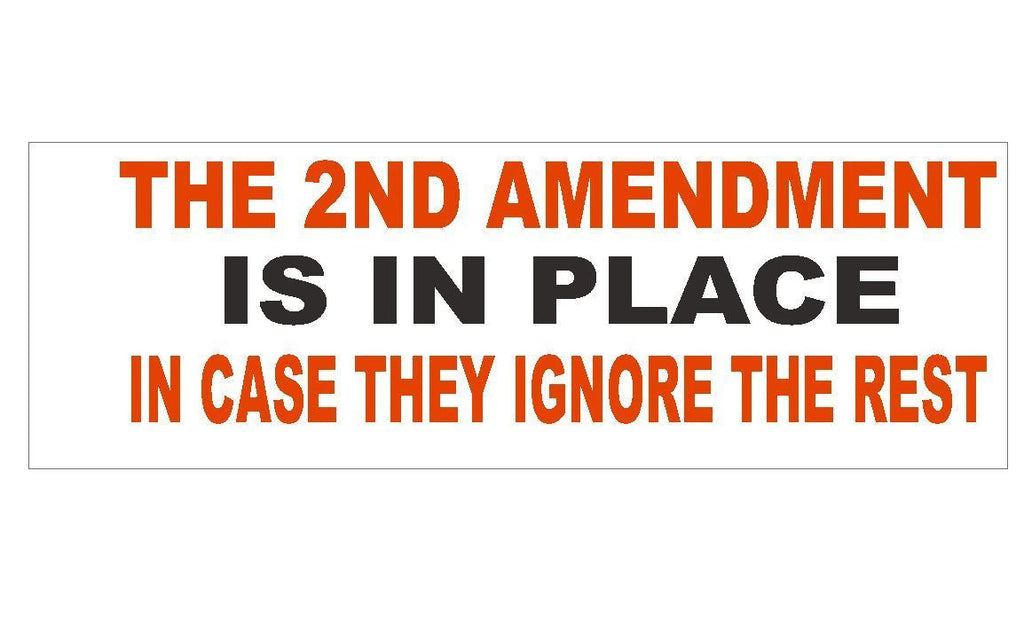 Anti Obama Gun Control 2nd Amendment Political Bumper Sticker MADE IN USA D266 - Winter Park Products