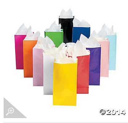 Assorted Color Paper Bags AS LOW AS 26¢ ea - Winter Park Products