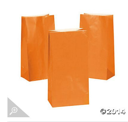 Orange Paper Bags AS LOW AS 26¢ ea - Winter Park Products