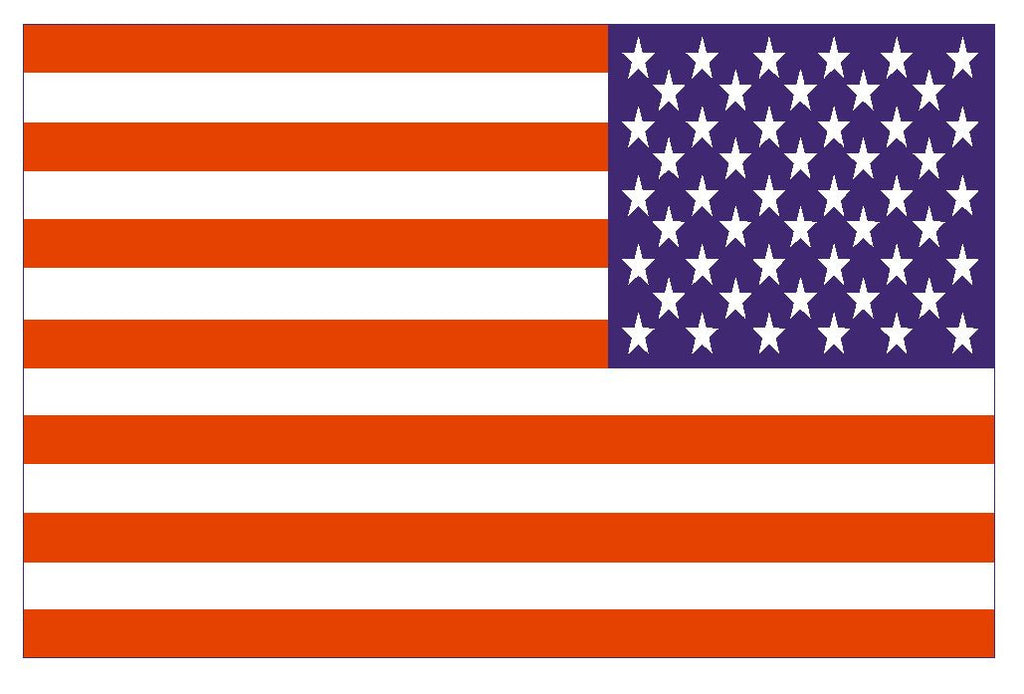 USA Reverse Flag Vinyl Flag Sticker F614 - Winter Park Products