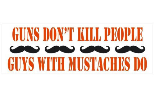 Anti Obama Gun Control Mustache Political Bumper Sticker D282 - Winter Park Products