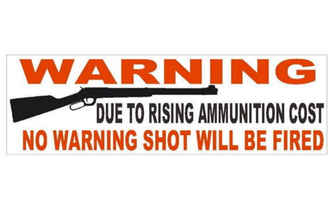 Anti Gun Control Warning Political Bumper Sticker MADE IN USA D323 - Winter Park Products