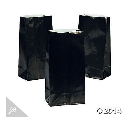 Black Paper Bags AS LOW AS 26¢ ea - Winter Park Products