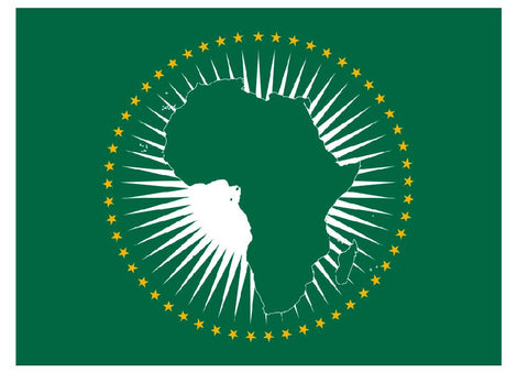 African Union Vinyl International Flag Sticker F613 - Winter Park Products