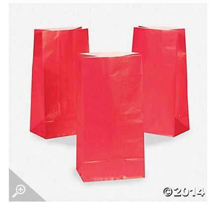 Red Paper Bags AS LOW AS 26¢ ea - Winter Park Products