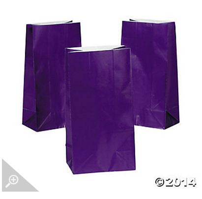 Purple Paper Bags AS LOW AS 26¢ ea - Winter Park Products