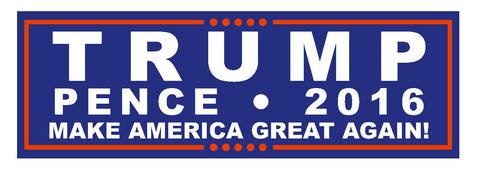 Trump Pence 2016  TRUMP FOR PRESIDENT BUMPER STICKER or Helmet Sticker D2738 - Winter Park Products