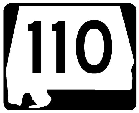 Alabama State Route 110 Sticker R4506 Highway Sign Road Sign Decal