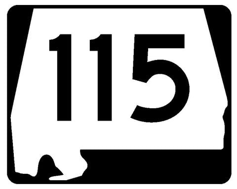 Alabama State Route 115 Sticker R4511 Highway Sign Road Sign Decal