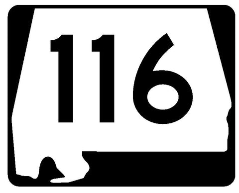 Alabama State Route 116 Sticker R4512 Highway Sign Road Sign Decal