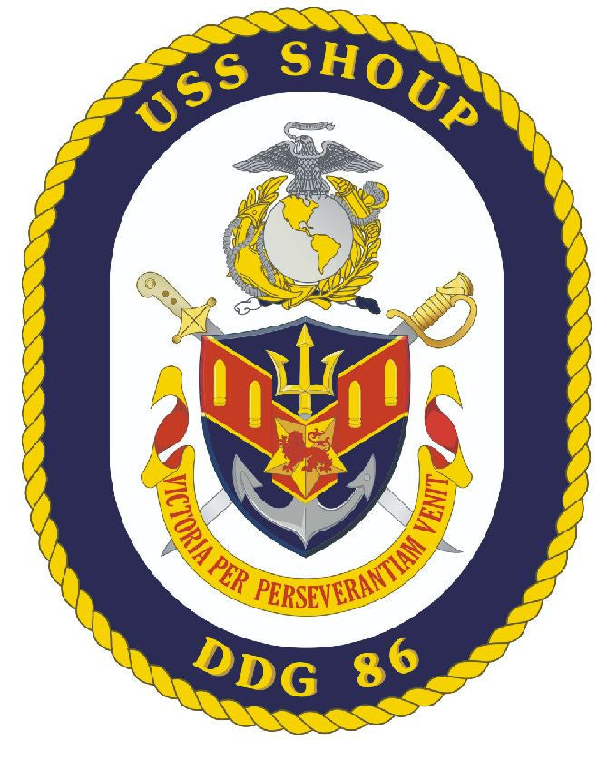 USS Shoup Sticker Military Armed Forces Navy Decal M194 - Winter Park Products