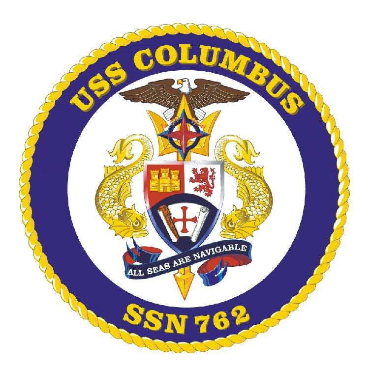 USS Columbus Sticker Military Armed Forces Navy Decal M214 - Winter Park Products