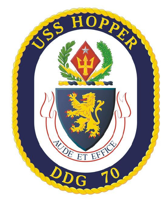 USS Hopper Sticker Military Armed Forces Decal M159 - Winter Park Products