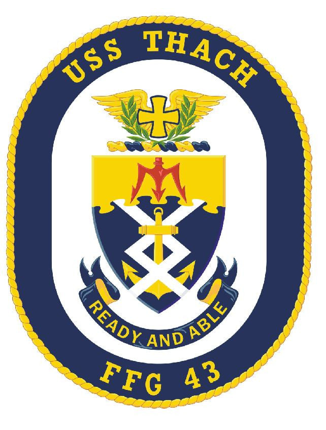 USS Thach Sticker Military Armed Forces Navy Decal M219 - Winter Park Products