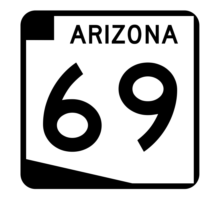 Arizona State Route 69 Sticker R2709 Highway Sign Road Sign