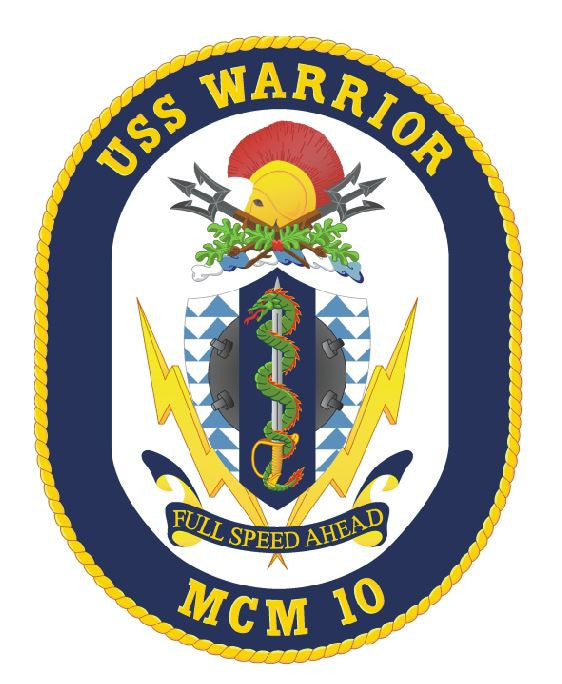 USS Warrior Sticker Military Armed Forces Navy Decal M188 - Winter Park Products