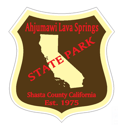 Ahjumawi Lava Springs State Park Sticker R6631 California