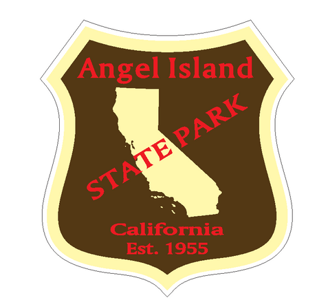 Angel Island State Park Sticker R6633 California