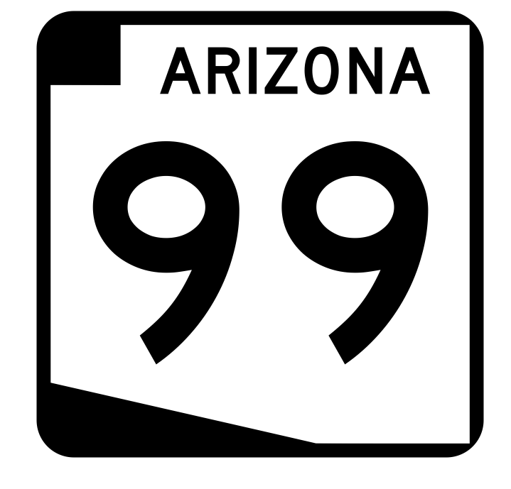 Arizona State Route 99 Sticker R2734 Highway Sign Road Sign