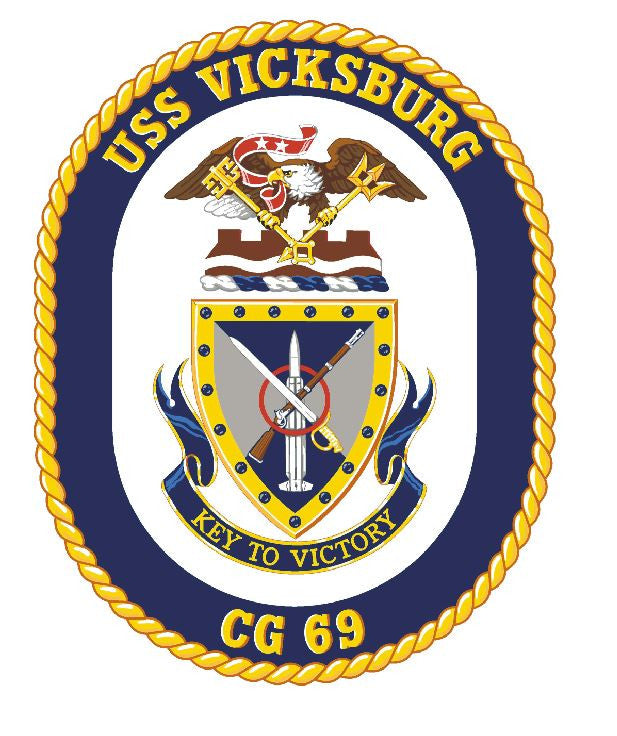 USS Vicksburg Sticker Military Armed Forces Navy Decal M192 - Winter Park Products