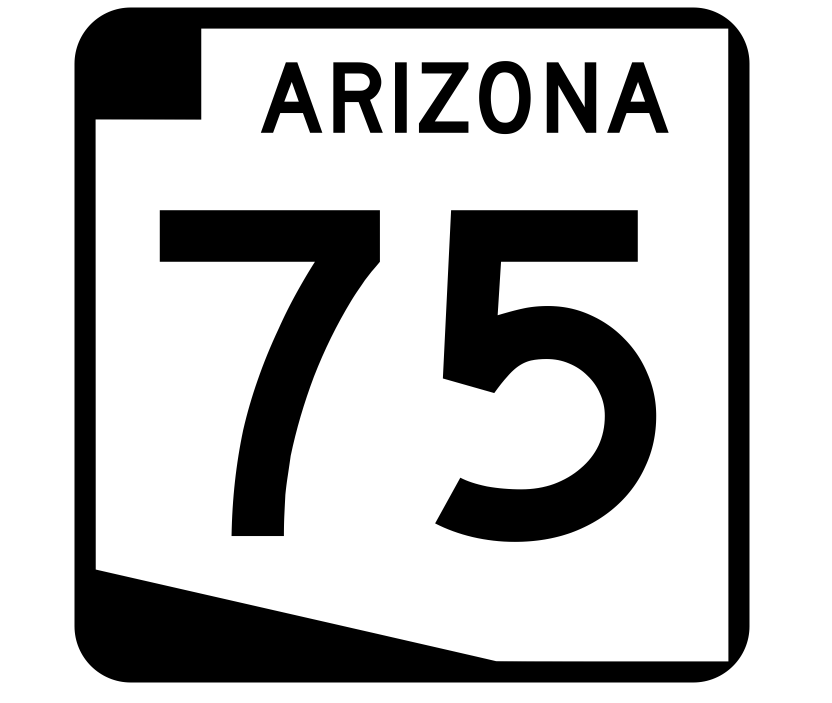 Arizona State Route 75 Sticker R2714 Highway Sign Road Sign