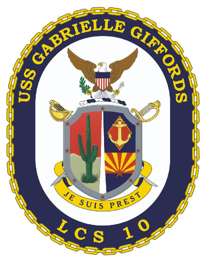 USS Gabrielle Giffords Sticker Military Armed Forces Navy Decal M243 - Winter Park Products