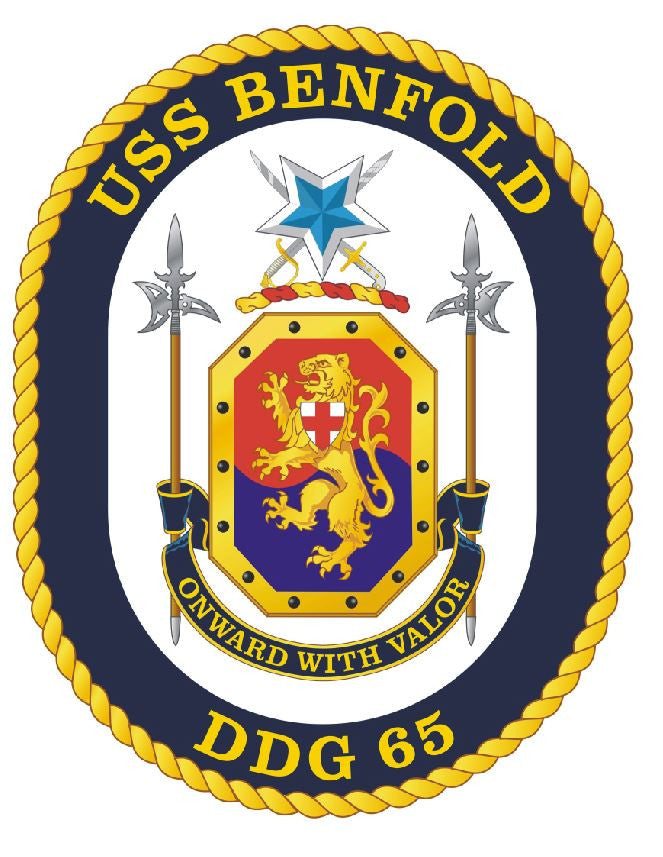 USS Benfold Sticker Military Armed Forces Navy Decal M210 - Winter Park Products