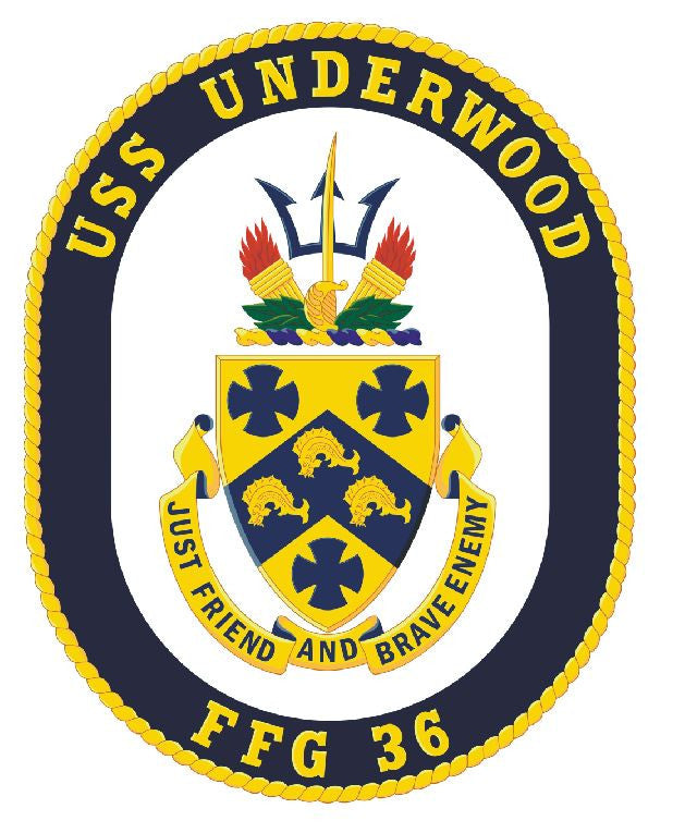 USS Underwood Sticker Military Armed Forces Navy Decal M198 - Winter Park Products