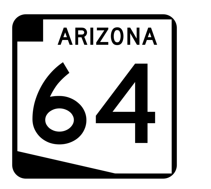 Arizona State Route 64 Sticker R2705 Highway Sign Road Sign