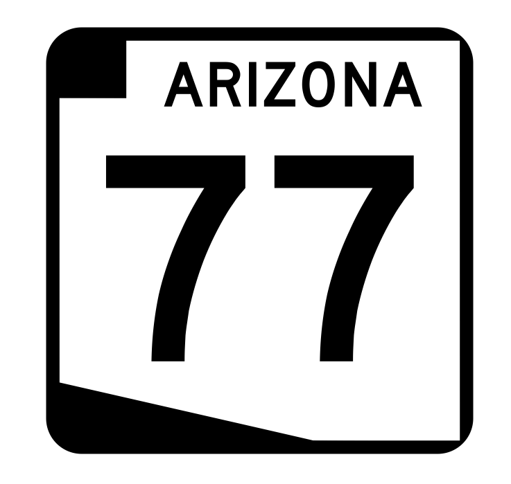Arizona State Route 77 Sticker R2715 Highway Sign Road Sign