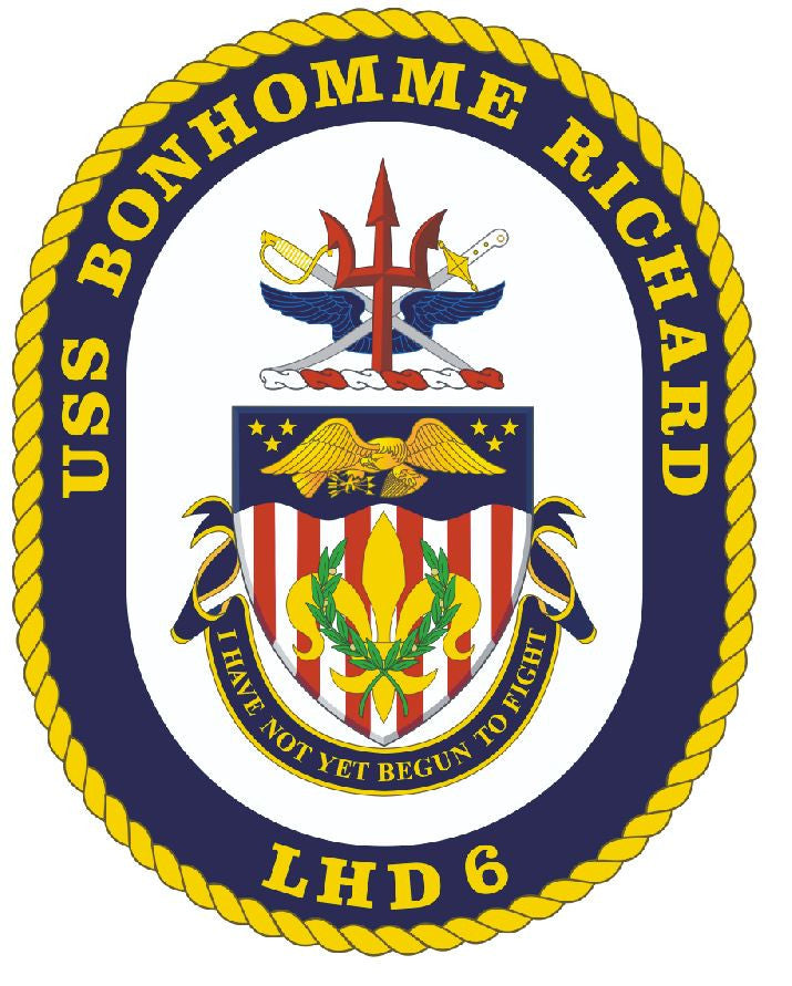 USS Bonhomme Richard Sticker Military Armed Forces Navy Decal M211 - Winter Park Products