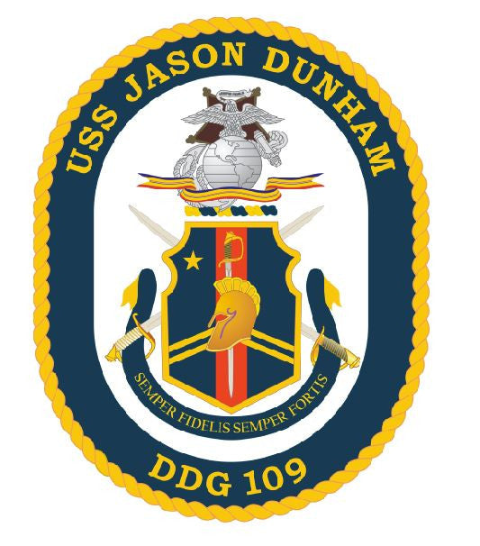USS Jason Dunham Sticker Military Armed Forces Decal M155 - Winter Park Products