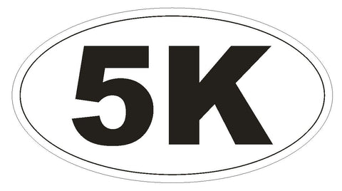 5K Marathon Oval Bumper Sticker or Helmet Sticker D141 Laptop Phone Euro Oval - Winter Park Products