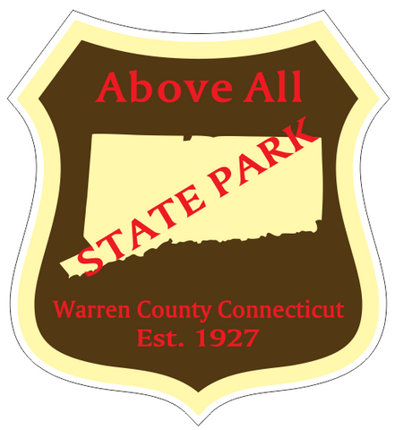 Above All Connecticut State Park Sticker R6858
