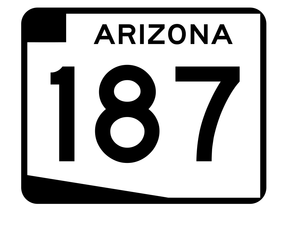 Arizona State Route 187 Sticker R2743 Highway Sign Road Sign