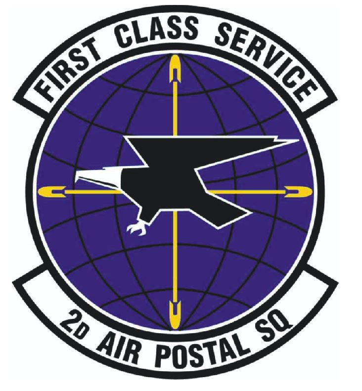 2nd AIR POSTAL SQUADRON Sticker / Military Decal M318 - Winter Park Products