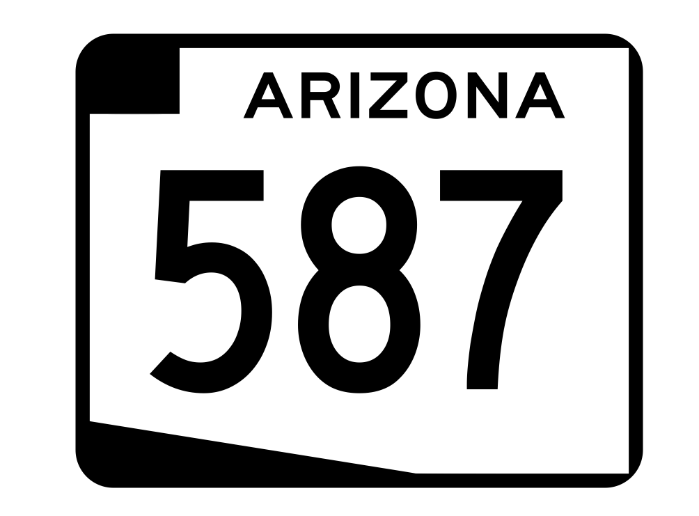 Arizona State Route 587 Sticker R2770 Highway Sign Road Sign