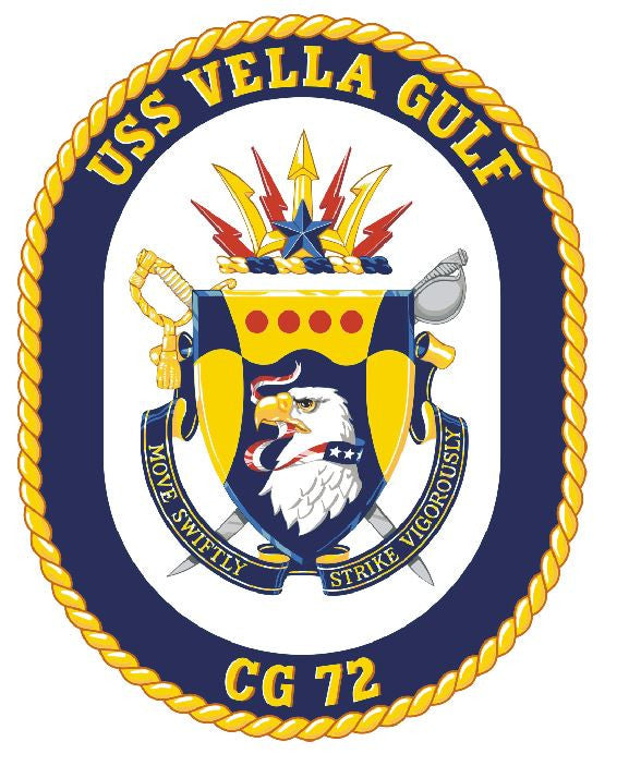 USS Vella Gulf Sticker Military Armed Forces Navy Decal M191 - Winter Park Products