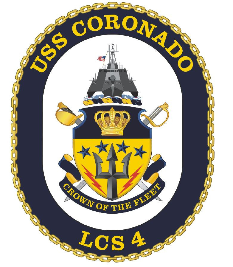 USS Coronado Sticker Military Armed Forces Navy Decal M229 - Winter Park Products