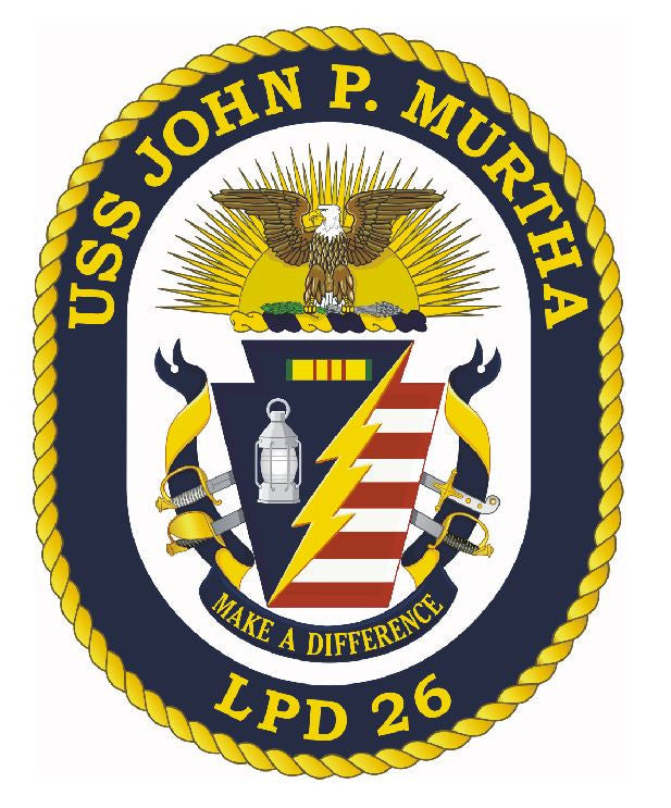 USS John P Murtha Sticker Military Armed Forces Navy Decal M176 - Winter Park Products