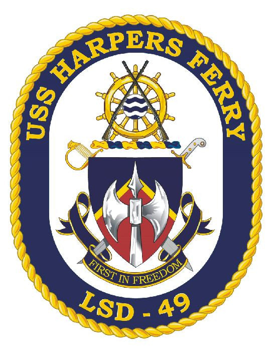 USS Harpers Ferry Sticker Military Armed Forces Decal M166 - Winter Park Products