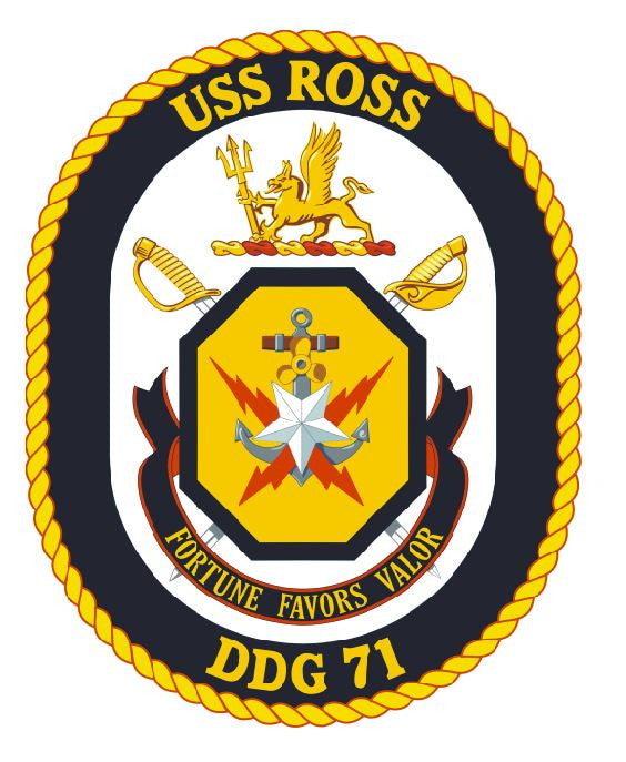 USS Ross Sticker Military Armed Forces Navy Decal M187 - Winter Park Products