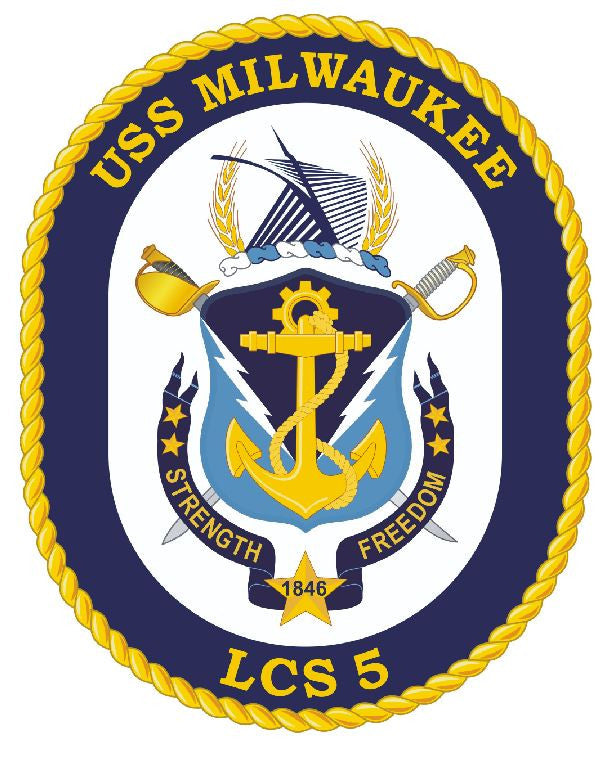 USS Milwaukee Sticker Military Armed Forces Navy Decal M185 - Winter Park Products
