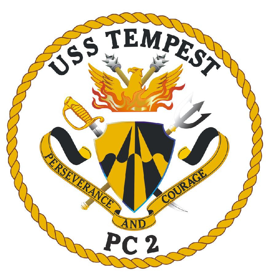 USS Tempest Sticker Military Armed Forces Navy Decal M230 - Winter Park Products