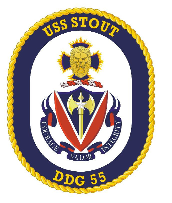 USS Stout Sticker Military Armed Forces Navy Decal M217 - Winter Park Products