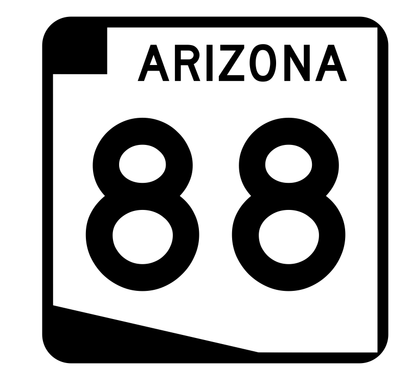 Arizona State Route 88 Sticker R2725 Highway Sign Road Sign