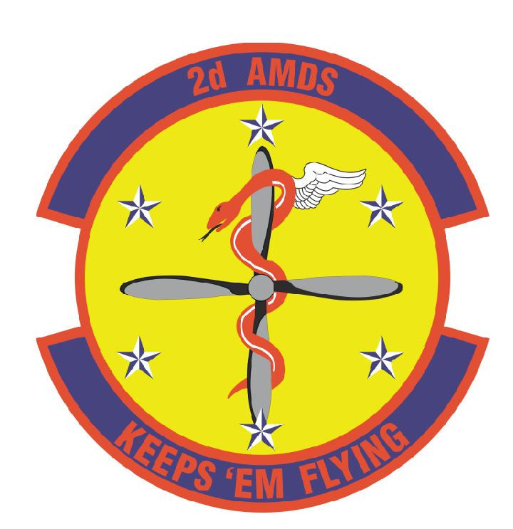 2nd AEROSPACE MEDICAL SQUADRON Sticker /  Decal M317 - Winter Park Products